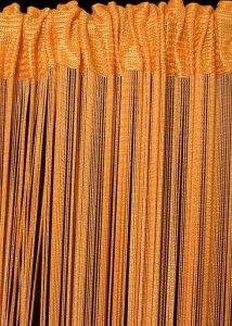 Firana SPAGETTI 3 150X280 Pomarańczowy
