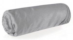 Prześcieradło NOVA3 z makosatyny 160X200 z gumką Srebrne Eurofirany