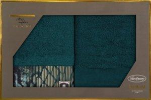 Eva Minge Komplet Ręczników CARLA 70x140 Turkusowy Eurofirany
