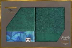 Eva Minge Komplet Ręczników CAMILA 70x140 Ciemny Zielony Eurofirany