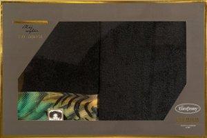 Eva Minge Komplet Ręczników COLLIN 50x90 Czarny Eurofirany