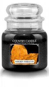 Country Candle - Golden Tobacco - Średni słoik (453g) 2 knoty