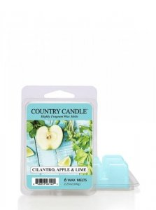 Country Candle - Cilantro, Apple & Lime - Wosk zapachowy potpourri (64g)
