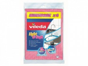 VILEDA - ŚCIERKA LIGHT & SOFT 6SZT -VIL 150539