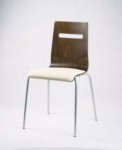 MIA PS - krzesło metalowa rama biała tapicerka