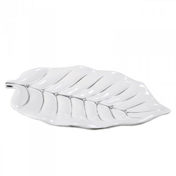 PLATA Patera 01 46X29X5 Biały+Srebrny