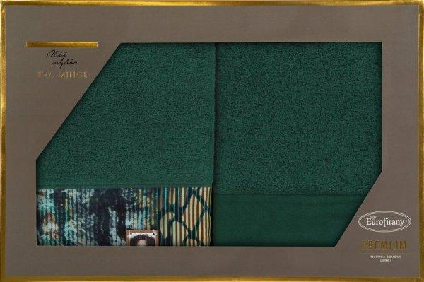 Eva Minge Komplet Ręczników CARLA 70x140 Ciemny Zielony Eurofirany
