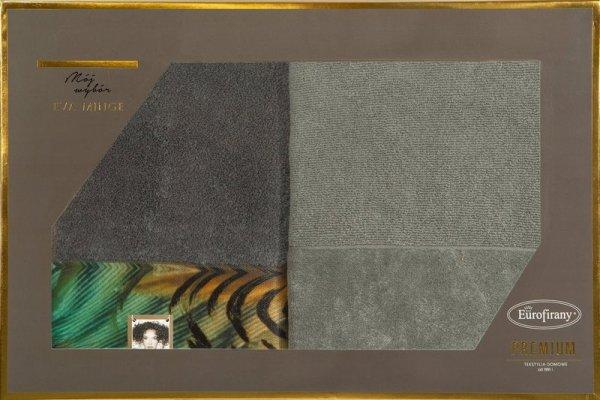 Eva Minge Komplet Ręczników COLLIN 70x140 Stalowy Eurofirany