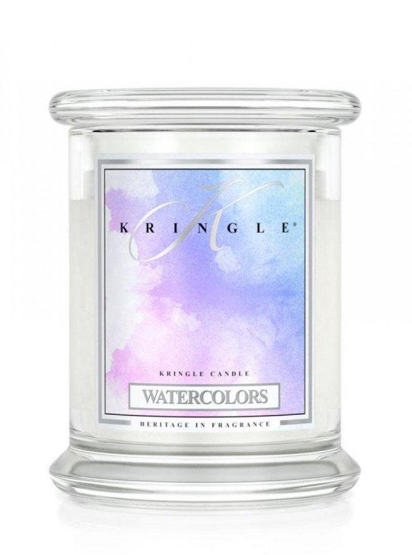 Kringle Candle - Watercolors - średni, klasyczny słoik (411g) z 2 knotami