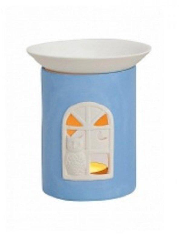 Kominek do wosków: Okienko sowa (niebieskie)