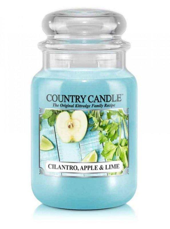 Country Candle - Cilantro, Apple & Lime - Duży słoik (652g) 2 knoty
