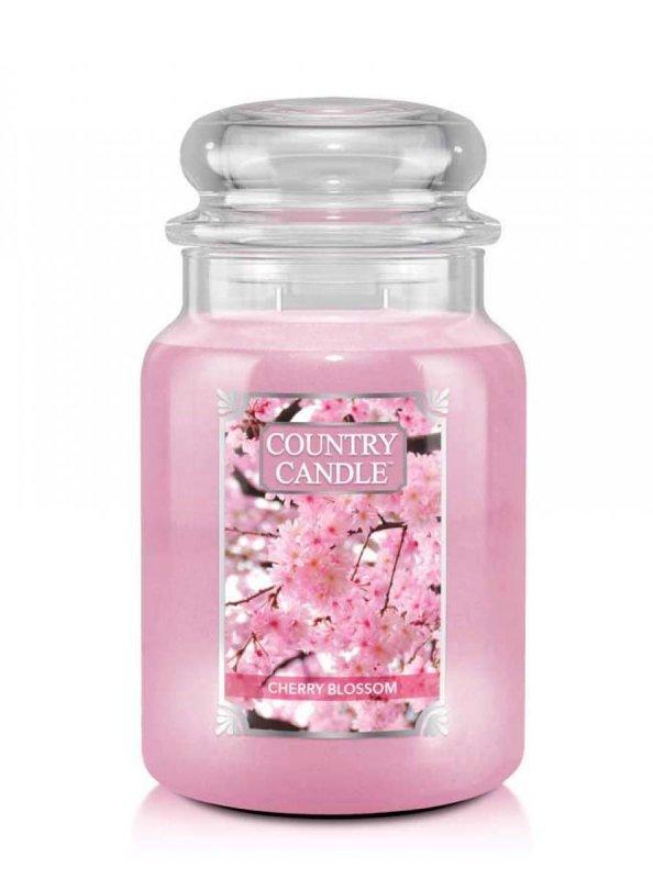 Country Candle - Cherry Blossom - Duży słoik (652g) 2 knoty