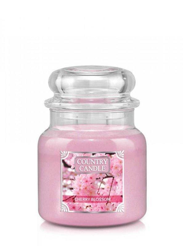 Country Candle - Cherry Blossom - Średni słoik (453g) 2 knoty