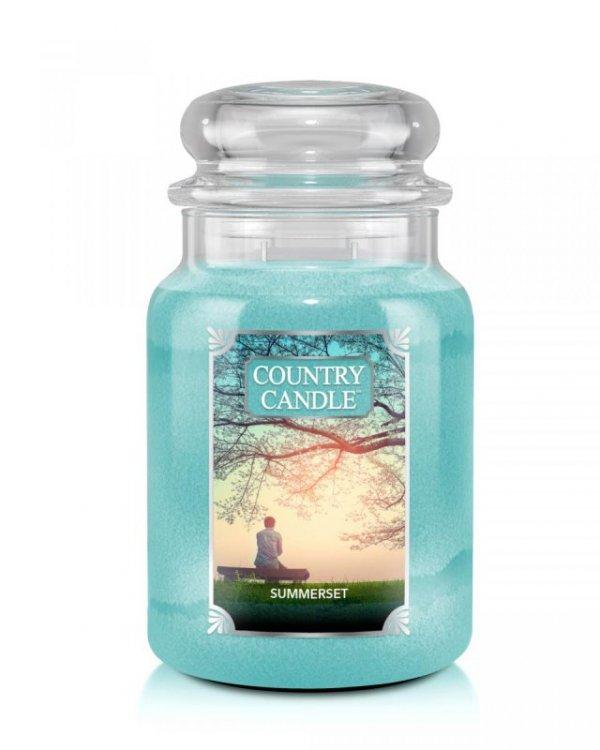 Country Candle - Summerset - Duży słoik (652g) 2 knoty