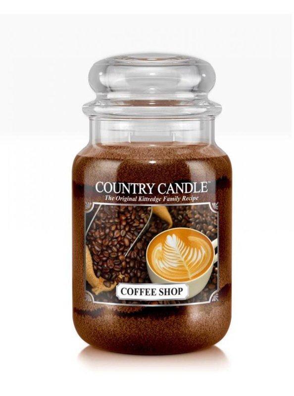 Country Candle - Coffee Shop - Duży słoik (652g) 2 knoty