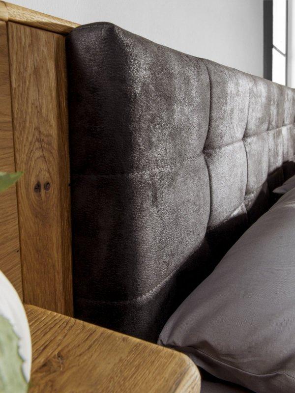Łóżko dębowe z pojemnikiem typ 14 Denver 140x200 - Dekort