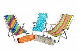 Hit lata Mały leżak plażowy składany do torby rurka alumniowa  wygodny drewniany podłokietnik -sklep W-wa