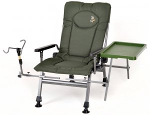 Fotel wędkarski CARP F5R STP ze stolikiem i uchwytem na wędkę