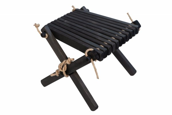 Stolik podnóżek drewniany EcoFurn Sosna Czarny