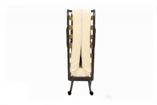 Łóżko składane LUXOR złożone widok z boku