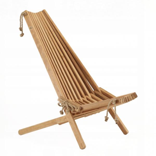 Leżak Fotel drewniany EcoFurn EcoChair Olcha olejowana