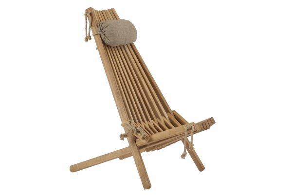 Leżak Fotel drewniany EcoFurn EcoChair Dąb Brązowy Olej