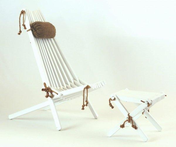 Stolik podnóżek drewniany EcoFurn Brzoza Brązowy