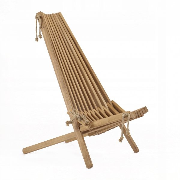 Fotel drewniany EcoFurn EcoChair Dąb Brązowy Olej