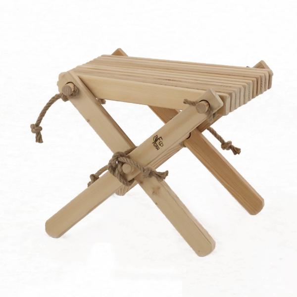 Stolik podnóżek drewniany EcoFurn Sosna Biały Olej