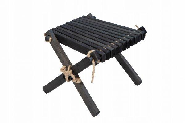 Stolik podnóżek drewniany EcoFurn Olcha Czarny