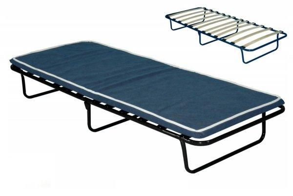 Łóżko polowe składane KRETA 190 x 80 materac 5 cm grubości