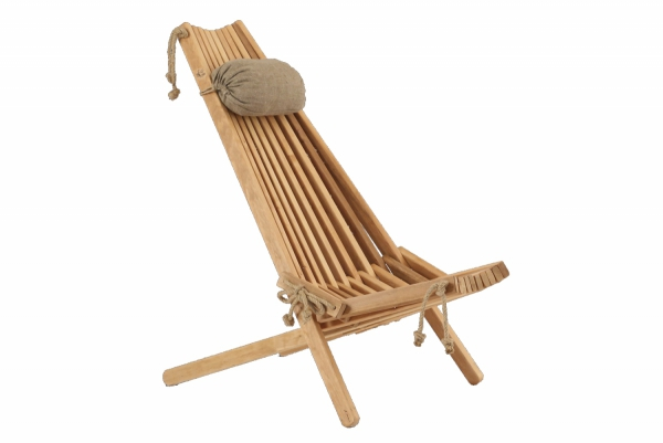 Fotel drewniany EcoChair olcha naturalna