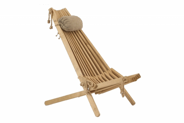 Leżak Fotel drewniany EcoFurn EcoChair Brzoza Brązowa