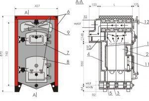 Kocioł żeliwny, piec KWD - Camino 3/9  - 23.73 KW Tylko na Eksport