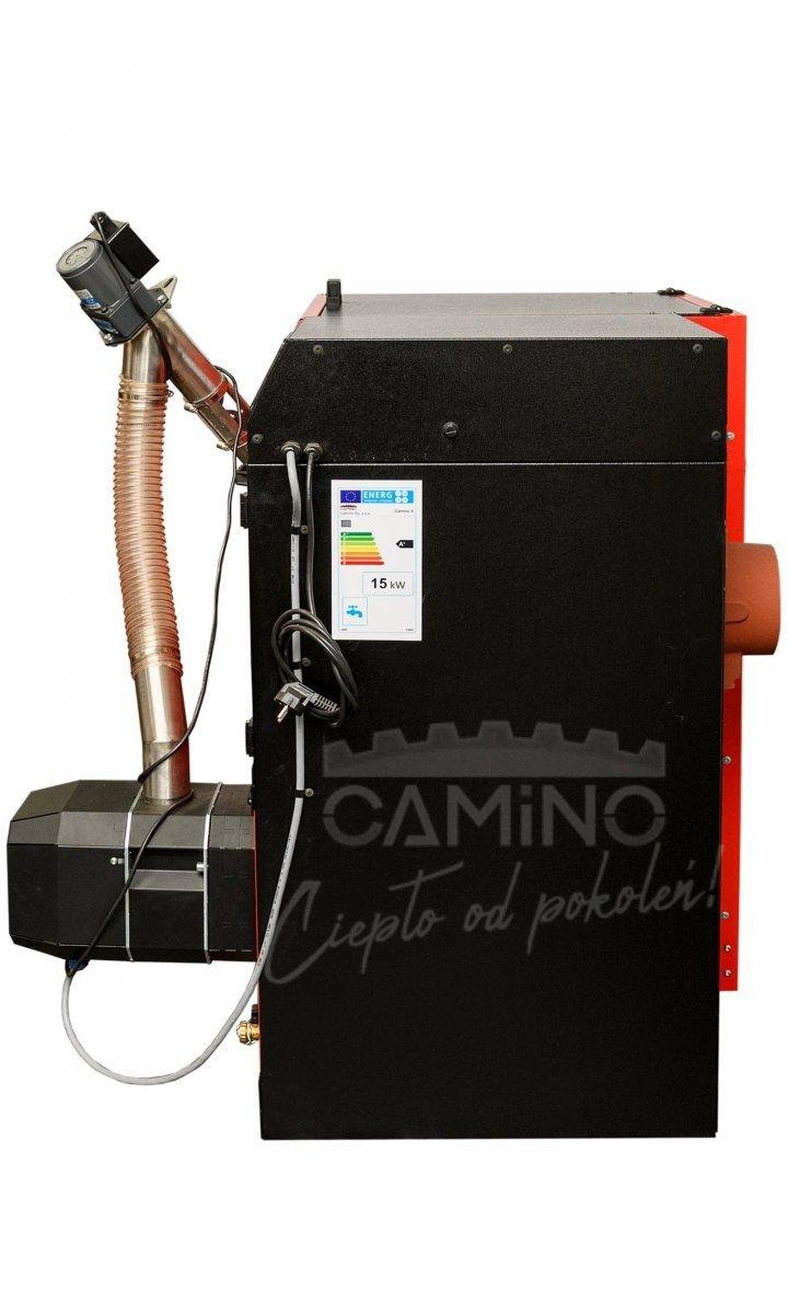 Camino 4 żeliwny kocioł na pellet z podajnikiem o mocy 10 KW ecoMax 362 simTOUCH ST4 Seperate