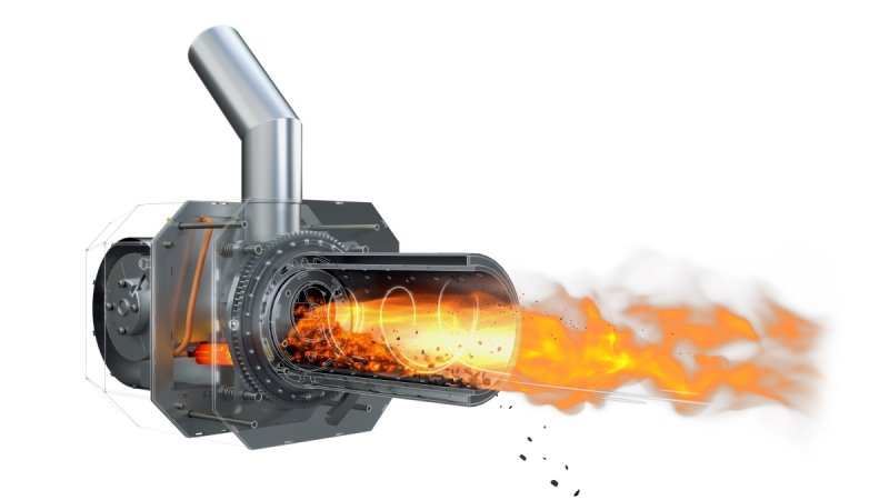 Palnik obrotowy na pellet ecoMax 360 8 - 36 KW