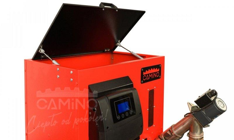 Camino 4 Slim - żeliwny kocioł na pellet z podajnikiem o mocy 20 KW EcoMax 860 simTOUCH ST4 Seperate