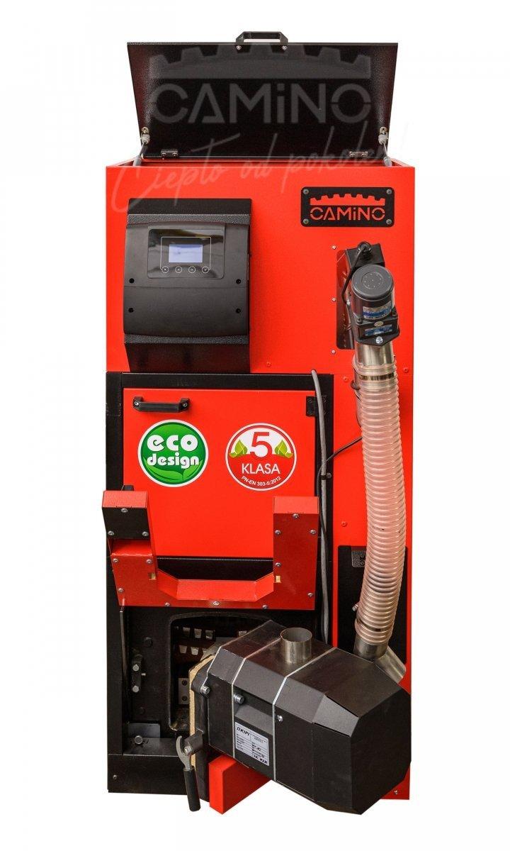Camino 4 Slim - żeliwny kocioł na pellet z podajnikiem o mocy 10 KW EcoMax 360 simTOUCH ST4 Seperate