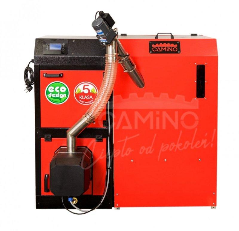 Camino 4 żeliwny kocioł na pellet z podajnikiem o mocy 20 KW ecoMax 360 simTOUCH ST4 Seperate
