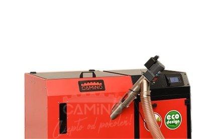 Camino 4 żeliwny kocioł na pellet z podajnikiem o mocy 15 KW ecoMax 362 simTOUCH ST4 Seperate