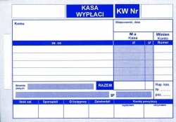 Druk KW - kasa wypłaci 1 kopia