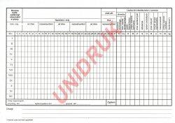 Roczna karta ewidencji obecności w pracy