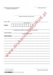 Zaświadczenie/konsultacja psychologiczna - druk uniwersalny