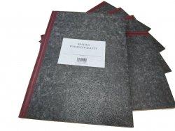 Książka wydanych kluczy A-4 pionowa, opr. twarda