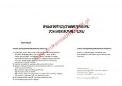 Wykaz dotyczący udostępnianej dokumentacji medycznej A-4