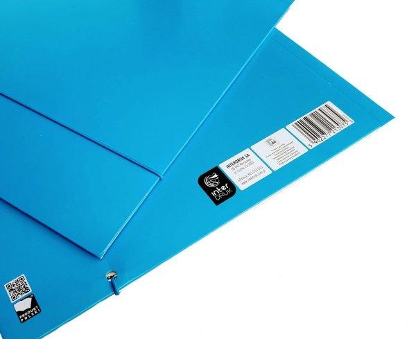 Teczka A4 z gumką - niebieska