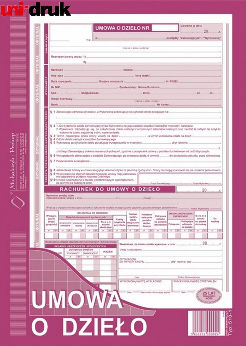 Umowa o dzieło 510-1