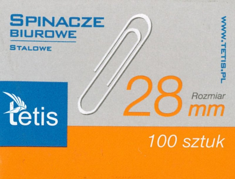 Spinacze biurowe Tetis 28 mm