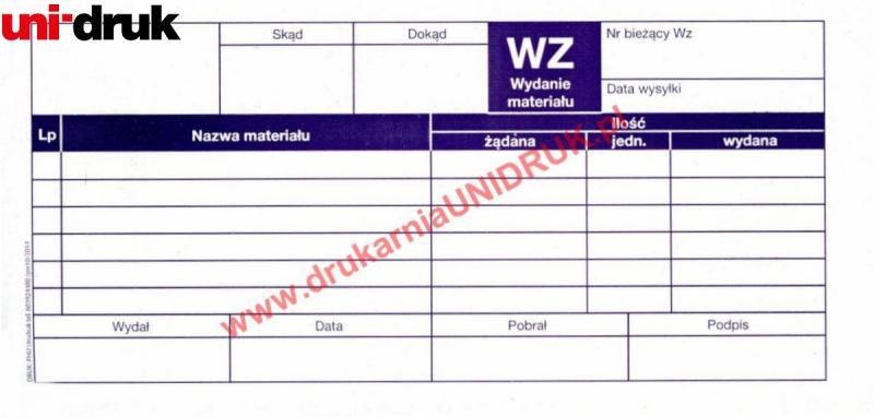 Druk WZ - wydanie materiałów na zewnątrz multikopia