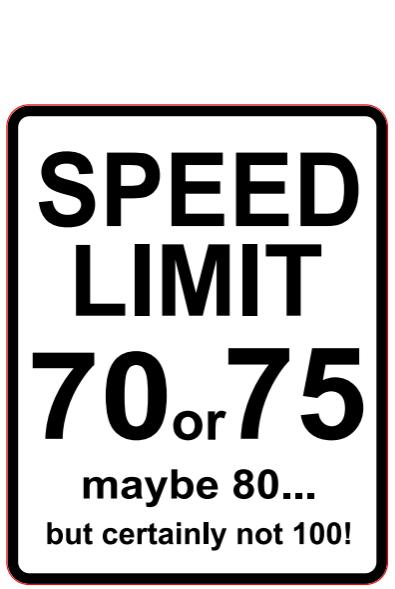 Naklejka Limit Prędkości 70 - duża